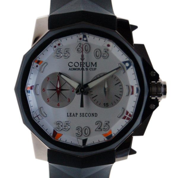コルム CORUM アドミラルズカップ リープセコンド 895.931.06/0371 AA92 48mm SS ホワイト 新品