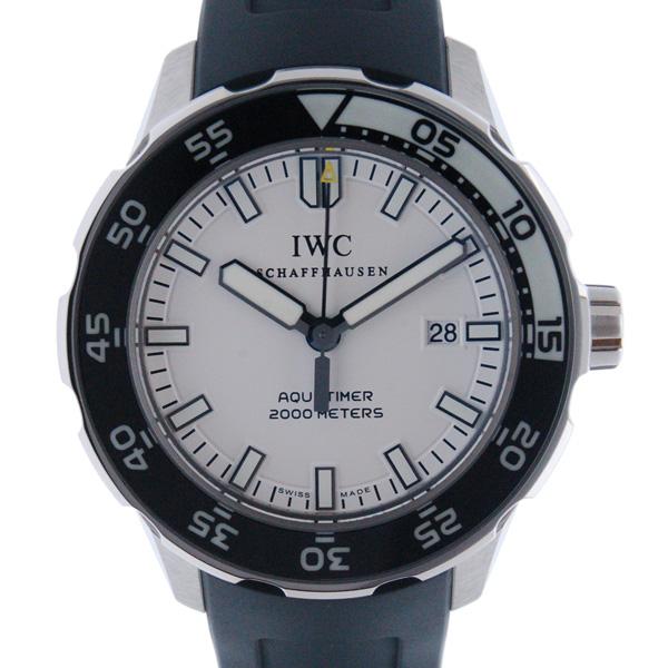 IWC インターナショナルウォッチカンパニー アクアタイマー IW356811 ホワイト SS ラバー 2000m防水 新品アウトレット