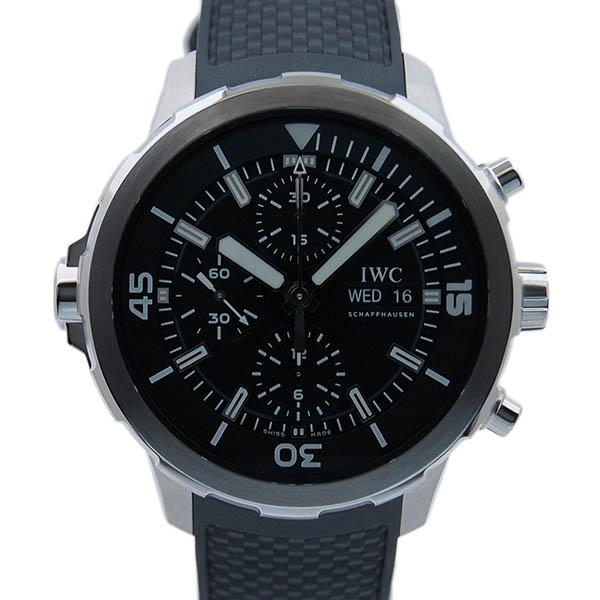 IWC インターナショナルウォッチカンパニー アクアタイマークロノグラフ IW376803 ブラック ラバー SS 44mm 新品