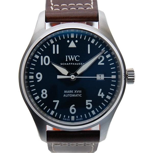 IWC パイロットウォッチ マーク18 プティ・プランス IW327004 ブルー 革 新品