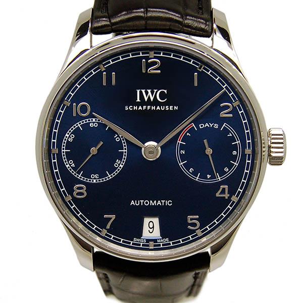 IWC ポルトギーゼ 7デイズ IW500710 ブルー 革ベルト 42.3mm 新品