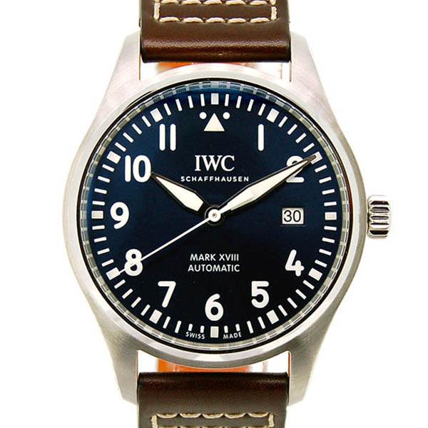 IWC パイロットウォッチ マーク18 プティ・プランス IW327010 ブルー 革 新品