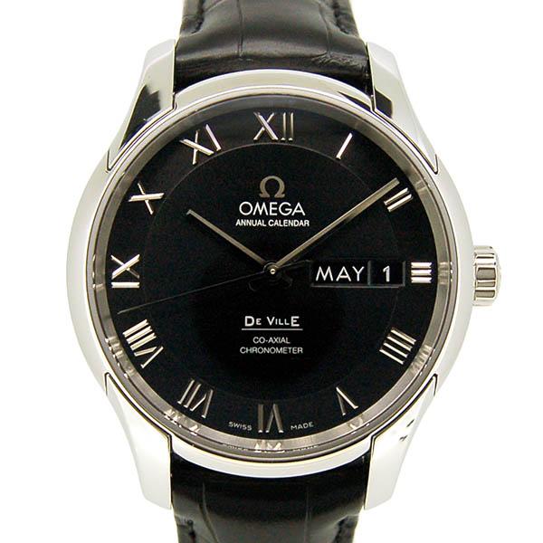 オメガ OMEGA デ・ビル アニュアルカレンダー 431.13.41.22.01.001 SS 41mm ブラック 新品