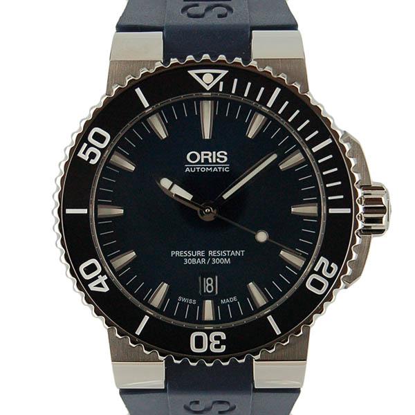 オリス ORIS アクイス デイト 733 7653 4135R SS 43mm ブルー ネイビーラバー 新品