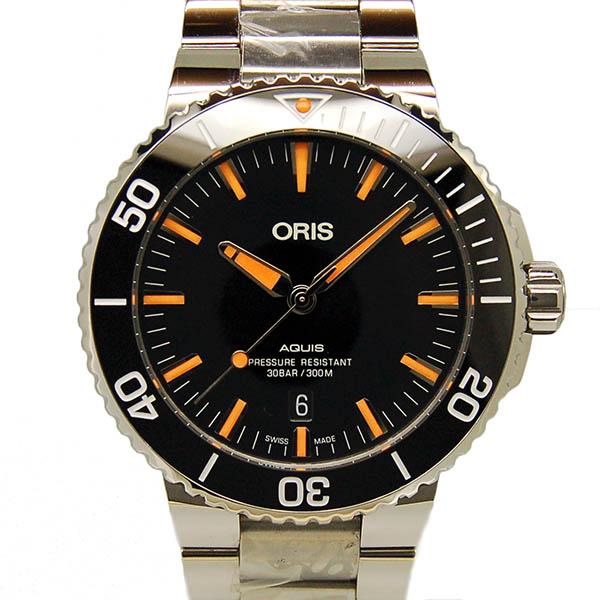 オリス ORIS アクイス デイト 733 7730 4159M SS 43.5mm ブラック 新品