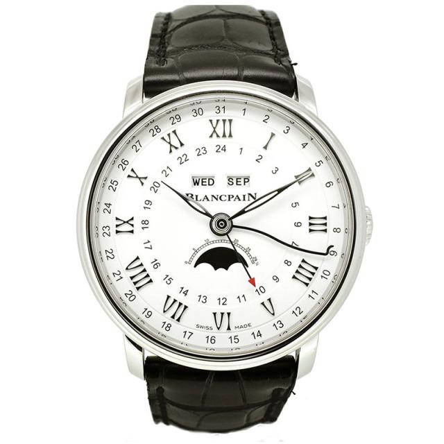 ブランパン BLANCPAIN ヴィルレ コンプリート カレンダー GMT 6676-1127-55B 40mm ホワイト 自動巻き 新品