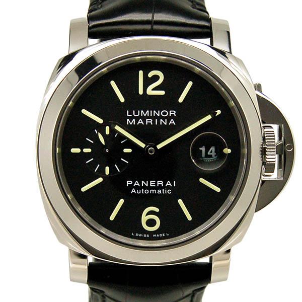 パネライ PANERAI ルミノールマリーナ 44mm PAM00104 自動巻 SS ブラック 革 新品