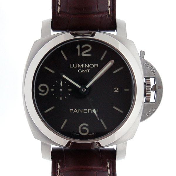 パネライ PANERAI ルミノール1950 3デイズ GMT PAM00320 44mm ブラック 新品