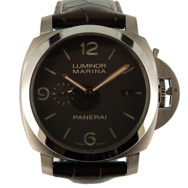 パネライ PANERAI ルミノール1950 3デイズ PAM00351 44mm 自動巻 チタン 茶革ベルト 新品