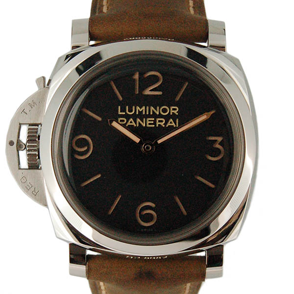 パネライ PANERAI ルミノール1950 3デイズ レフトハンド アッチャイオ PAM00557 SS 47mm 手巻き ブラック 新品