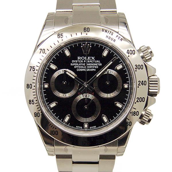 ロレックス ROLEX デイトナ Ref.116520 SS ブラック ランダム番 最終鏡面バックル 新品