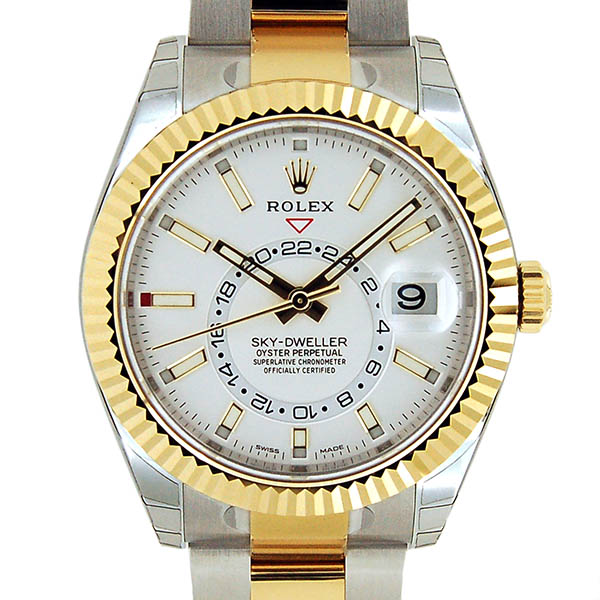 ロレックス ROLEX スカイドゥエラー 326933 SS×YG ホワイト 42mm 新品
