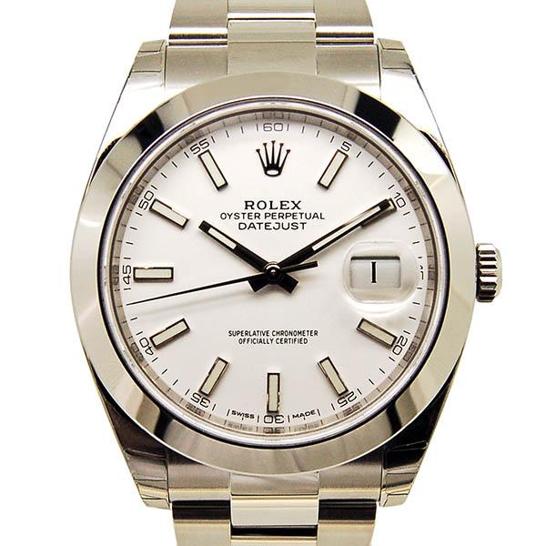 ロレックス ROLEX デイトジャスト41 126300 メンズ ホワイト 新品
