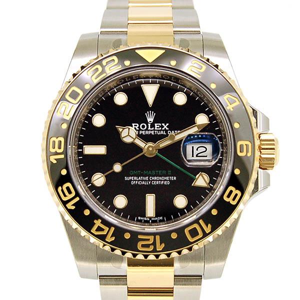 ロレックス ROLEX GMTマスター2 コンビ Ref.116713LN ブラック SS×YG コンビ 新品