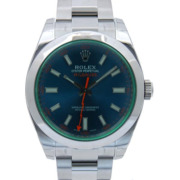 ロレックス ROLEX ミルガウス 116400GV Zブルー グリーンガラス SS 自動巻 新品