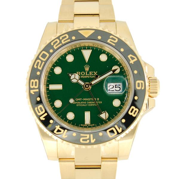 ロレックス ROLEX GMTマスター2 Ref.116718LN グリーン K18イエローゴールド 40mm 新品