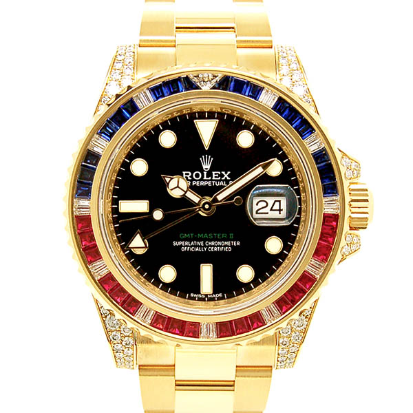 ロレックス ROLEX GMTマスター2 Ref.116758SARU  サファイアルビーダイヤモンド 18KYG 新品