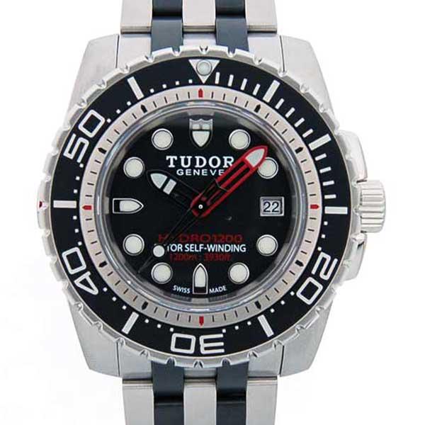 チュードル TUDOR ハイドロノート1200 25000 自動巻 SS ブラック 45mm 新品