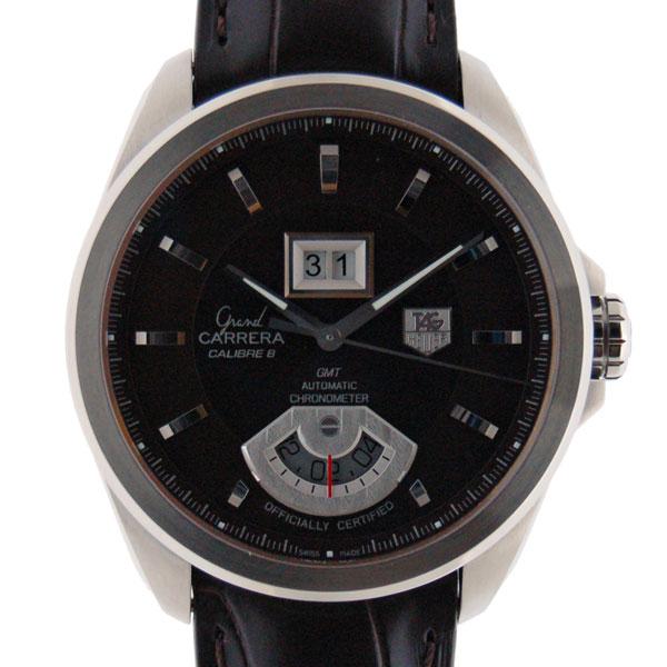 タグホイヤー TAG HEUER グランドカレラ GMT WAV5113.FC6231 キャリバー8 SS ブラウン 革 新品
