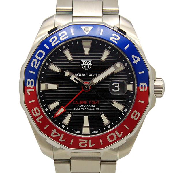 タグホイヤー TAG HEUER アクアレーサー キャリバー7 GMT WAY201F.BA0927 43mm ブラック 赤青ベゼル 新品