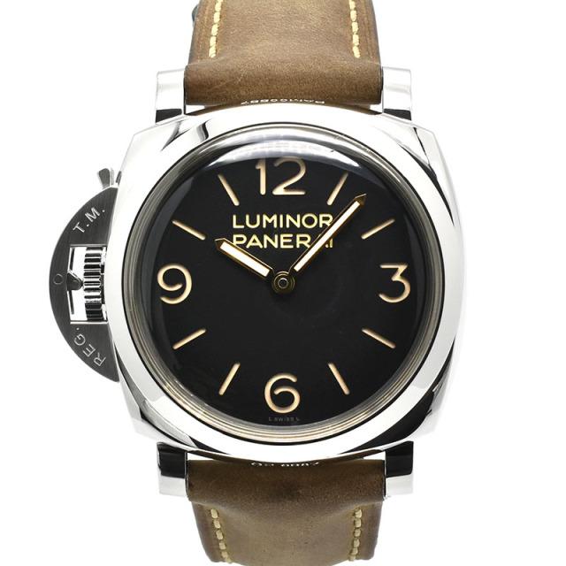 パネライ PANERAI ルミノール1950 3デイズ レフトハンド アッチャイオ PAM00557 SS 47mm 手巻き R番 USED 中古