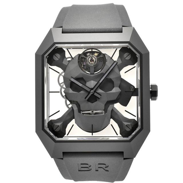 ベル&ロス BELL&ROSS BR01 サイバースカル BR01-CSK-CE/SRB 世界500本限定 45×46.5mm USED 中古