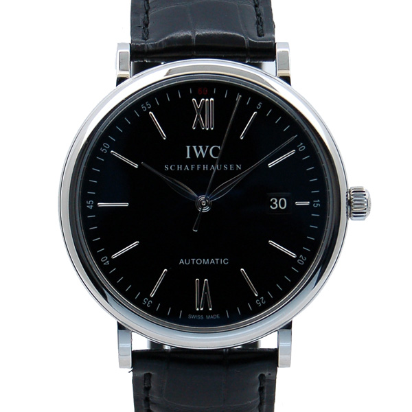 IWC インターナショナルウォッチカンパニー ポートフィノ IW356502 SS 40mm ブラック USED 中古