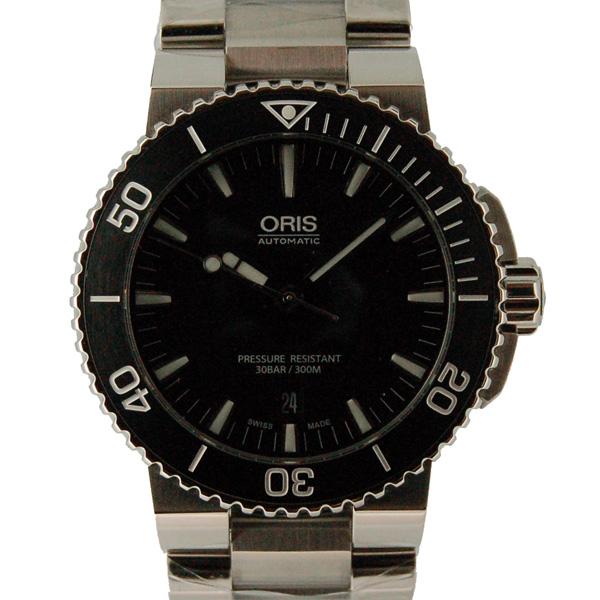 オリス ORIS アクイス デイト 733 7653 4154M ブラック 未使用品
