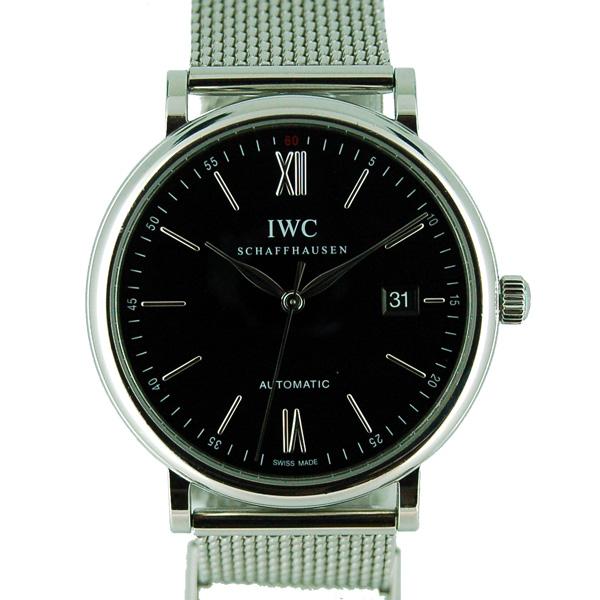 IWC インターナショナルウォッチカンパニー ポートフィノ IW356506 SS 40mm ブラック USED 中古