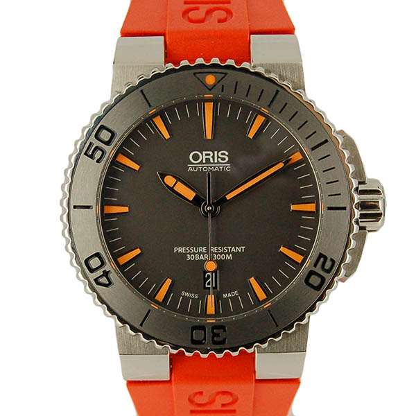 オリス ORIS アクイス デイト 733 7653 4158 RO グレー 未使用品