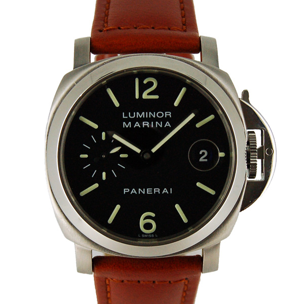 パネライ PANERAI ルミノールマリーナ PAM00048 40mm ブラック USED 中古