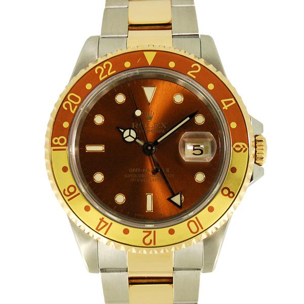 ロレックス ROLEX GMTマスター2 Ref.16713 ブラウン SS×YG E番 USED 中古