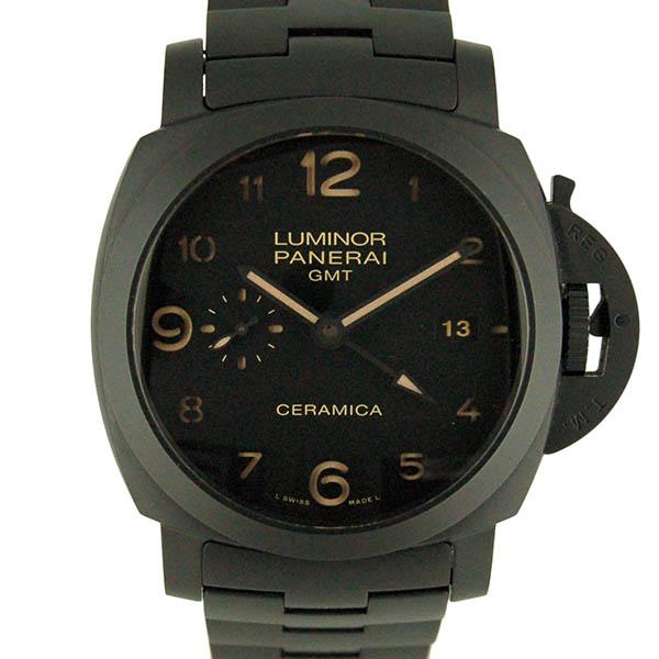 パネライ PANERAI ルミノール1950 3デイズ GMT トゥットネロ PAM00438 セラミック 44mm USED 中古