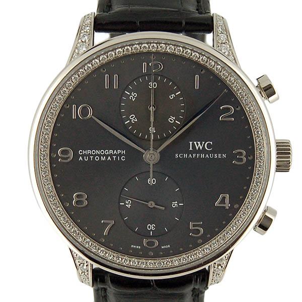 IWC ポルトギーゼ クロノグラフ ダイヤモンドコレクション IW371474 ホワイトゴールド 革ベルト USED 中古