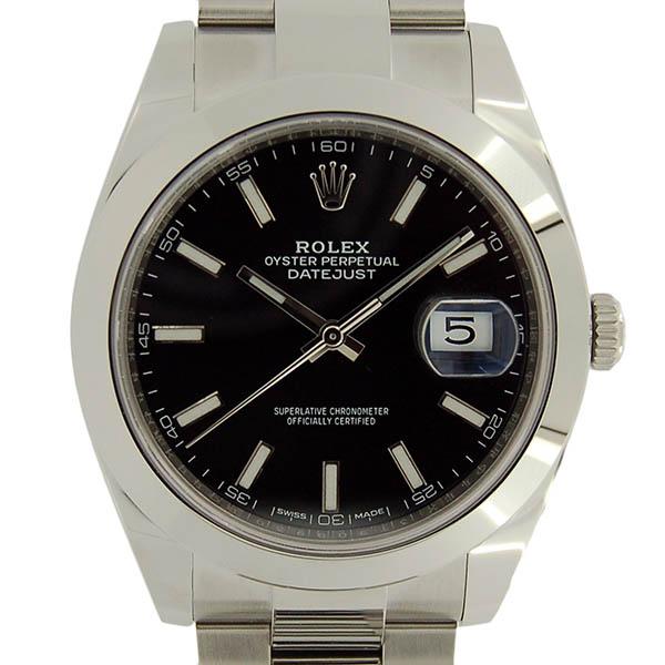 ロレックス ROLEX デイトジャスト41 126300 メンズ ブラック 未使用品