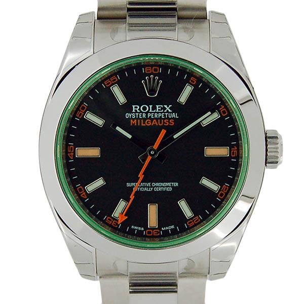 ロレックス ROLEX ミルガウス 116400GV グリーンガラス ブラック ランダム番 未使用品