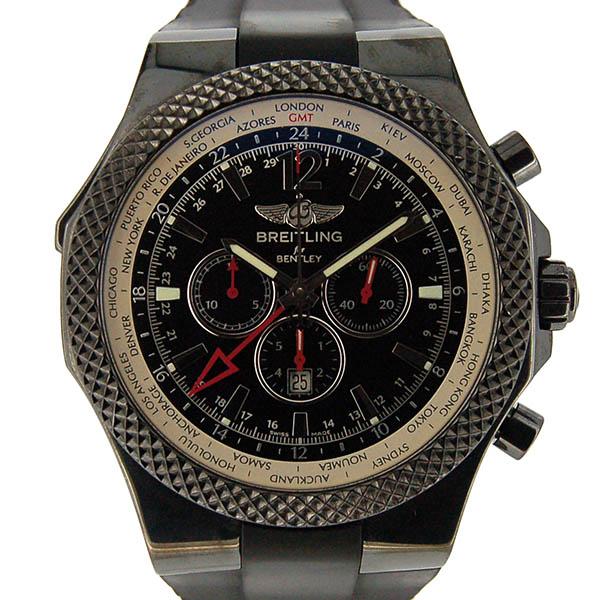 ブライトリング BREITLING ベントレー GMT クロノグラフ M47362 PVD ブラック ラバーベルト 世界1000本限定 USED 中古