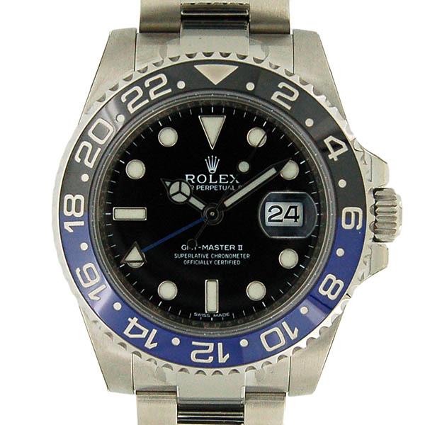 ロレックス ROLEX GMTマスター2 116710BLNR 40mm 青黒ベゼル 未使用品