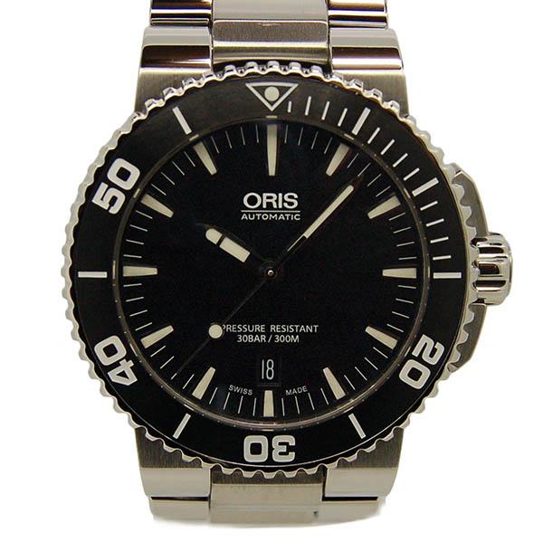 オリス ORIS アクイス デイト 733 7653 4154 ブラック USED 中古