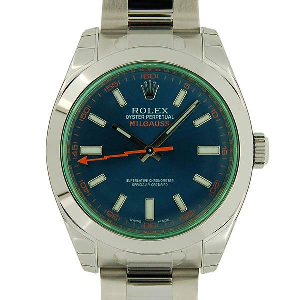 ロレックス ROLEX ミルガウス 116400GV Zブルー グリーンガラス 未使用品