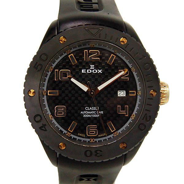 エドックス EDOX クラスワン オートマティック 80078 357RN NIR2 45mm ブラック PVD USED 中古