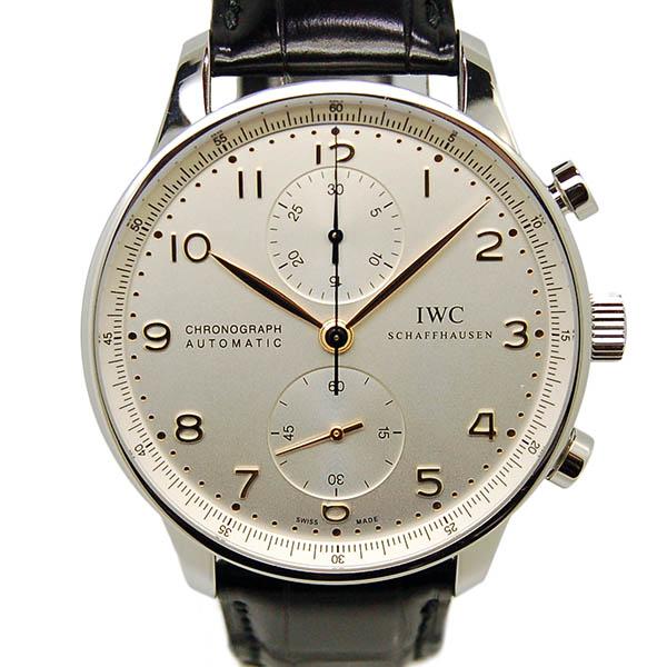 IWC インターナショナルウォッチカンパニー ポルトギーゼ IW371445 シルバー 金針 Dバックル 自動巻 USED 中古