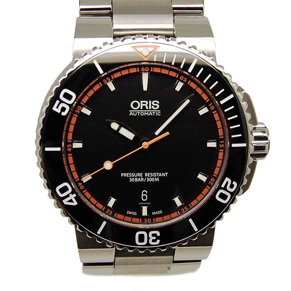 オリス ORIS アクイス デイト 733 7653 4128M ブラック SS USED 中古