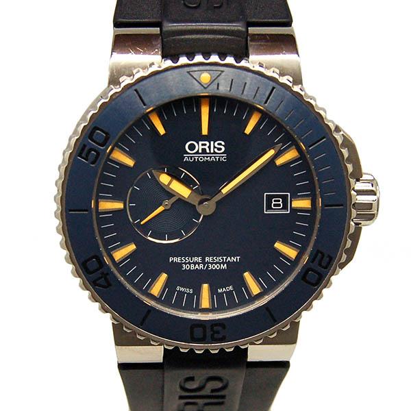 オリス ORIS アクイス デイト モルディブ リミテッドエディション 01 643 7654 7185-Set RS 世界2000本限定 ブルー USED 中古