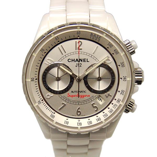 シャネル CHANEL J12 スーパーレッジェーラ H3410 41mm ホワイトセラミック クロノグラフ メンズ USED 中古