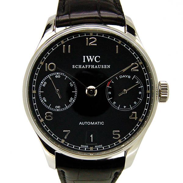IWC ポルトギーゼ オートマティック 7デイズ IW500109 ブラック 革ベルト USED 中古