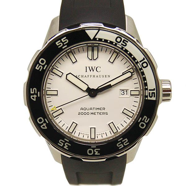 IWC アクアタイマー IW356811 ホワイト SS ラバー 2000m防水 USED 中古