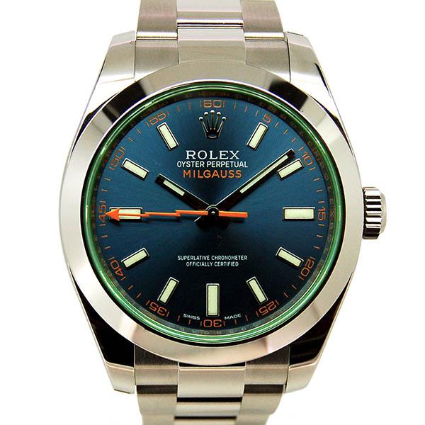 ロレックス ROLEX ミルガウス 116400GV Zブルー グリーンガラス 国内正規 未使用品