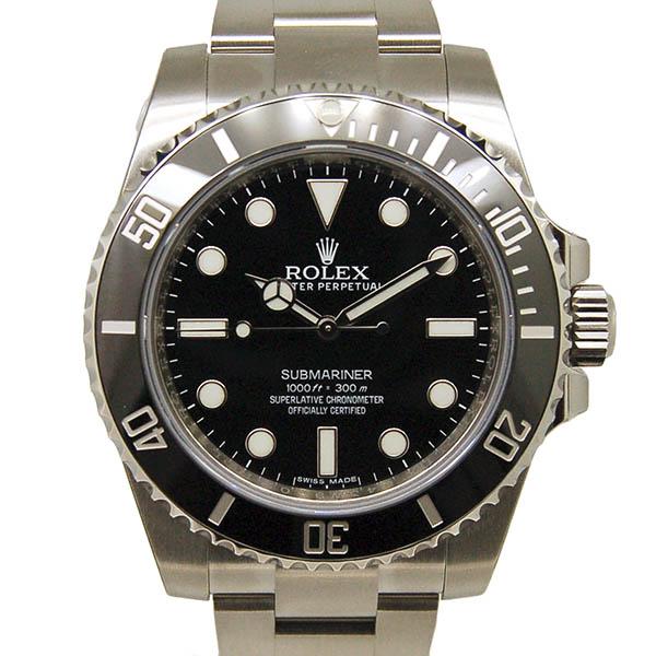 ロレックス ROLEX サブマリーナ ノンデイト 114060 メンズ SS ブラック ランダム番 未使用品