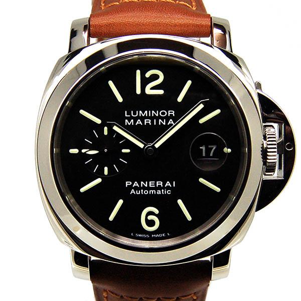 パネライ PANERAI ルミノールマリーナ 44mm PAM00104 自動巻 SS ブラック 革 H番 USED 中古